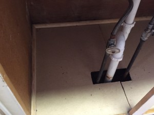 Plumbing Repair and Floor Replacement 2 - Leavenworth